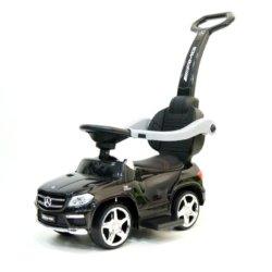 Толокар Mercedes-Benz GL63 A888AA-H с ручкой и качалкой (музыка, свет фар и колес, колеса резина, сиденье кожа)