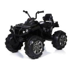Электроквадроцикл Grizzly 2WD черный (АКБ 12v, колеса резина, сиденье кожа, пульт, музыка)